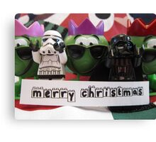 Dave Stormtrooper and Darth Vader Merry Christmas Canvas Print