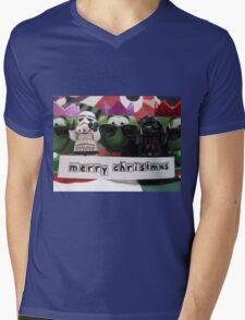 Dave Stormtrooper and Darth Vader Merry Christmas Mens V-Neck T-Shirt
