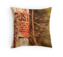 Posted Sign Throw Pillow