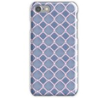 Luxury background with pearls. Silk satin. Pastel, blue - gray. iPhone Case/Skin