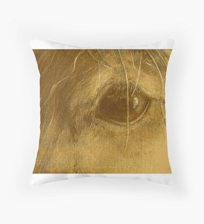 Horsepia - Prize-winning  Graphite and Watercolor on Paper 5x7inches  Throw Pillow