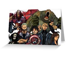 One Piece - The Avengers Greeting Card