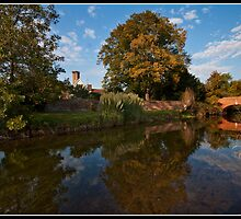 Late afternoon by the river stour by Shaun Whiteman
