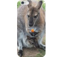 What's That You're Eating Mum? - Wallaby iPhone Case/Skin