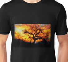 A Tree and the Dawn in Barda Village (zoom for impact)  Unisex T-Shirt