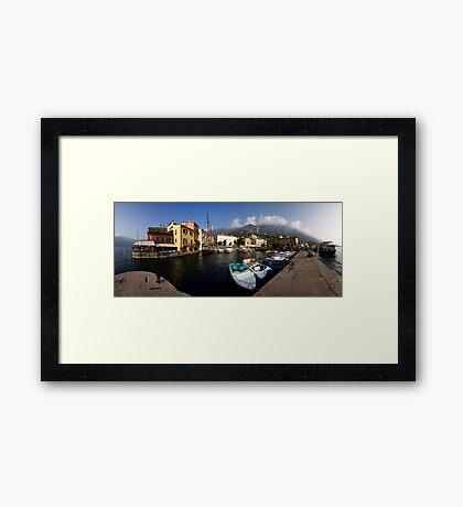 Malcesine Panorama Framed Print