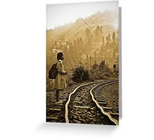 praying for the train to come Greeting Card