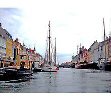 In Denmark , Nyhavn in Copenhagen Photographic Print