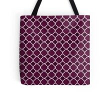 Luxury background with pearls. Silk satin. Deep cherry. Tote Bag