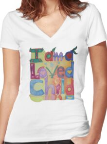 I am a loved Child Women's Fitted V-Neck T-Shirt