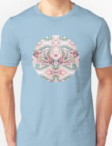 Lily, Leaf & Triangle Pattern - multi-color version T-Shirt