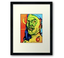 Sardonic Self Portrait  Framed Print