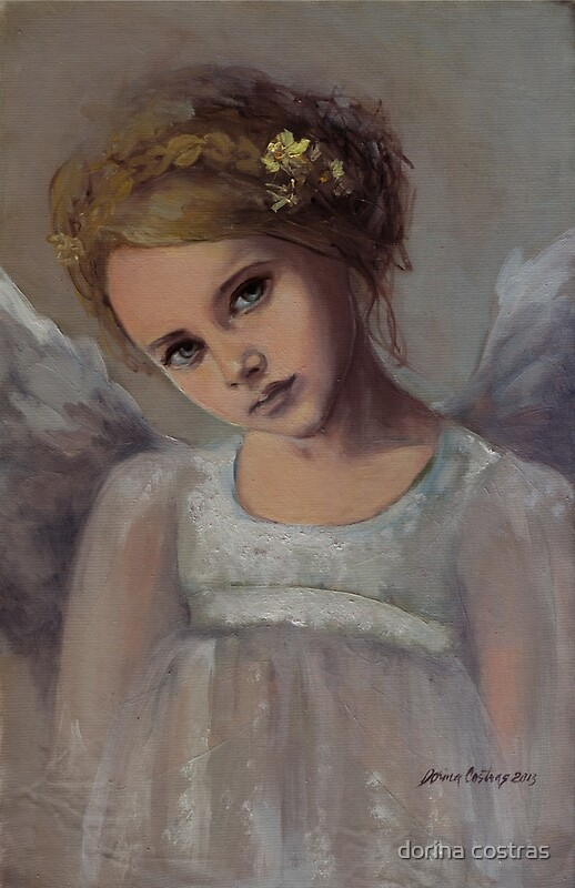 Reading into your soul by dorina costras redbubble for Angel paintings for sale