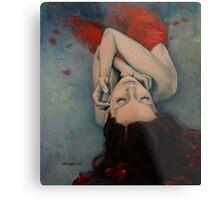 Swinging in Red Metal Print