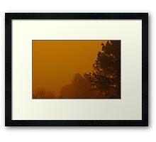 Queensland dust storm 2009 Framed Print