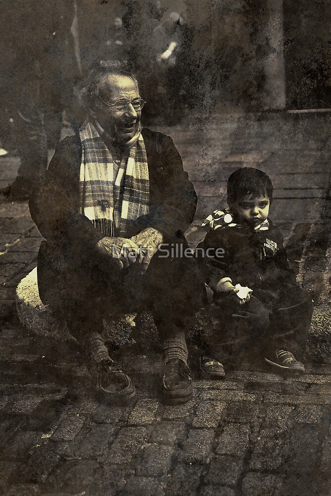 Boy and Grandad by Matt Sillence