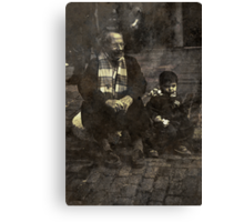 Boy and Grandad Canvas Print