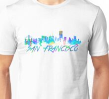 San Francisco Skyline in water colour Unisex T-Shirt