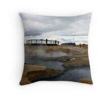 Sulfur Fields Throw Pillow