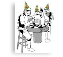 Stormtrooper Party! - Happy Birthday - Shirt, Sweater, Sticker, and More! Canvas Print