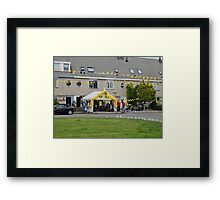 Supporting the Runner Teams Framed Print