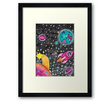 Castronaut Adventures in Space! Framed Print