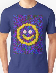 Happy Smiley Face Bright Dandelion Flowers  Unisex T-Shirt