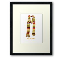 Doctor Who - Fourth Doctor Jelly Baby Framed Print