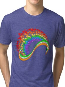 There is always a lucky rainbow over Ireland Tri-blend T-Shirt
