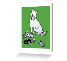 The Helpful Bull Terrier Greeting Card