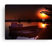 sunrise on jordan harbour Canvas Print