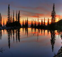 High Mountain Reflection by Dave Hampton