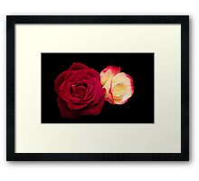 Red Rose and Friend Framed Print