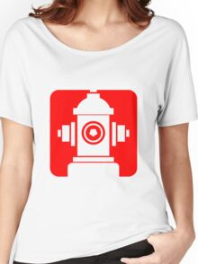 FIRE HIDRANT PICTOGRAM  Women's Relaxed Fit T-Shirt