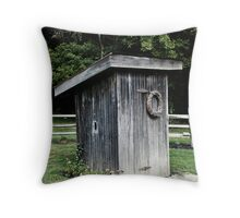 Nuther Outhouse Throw Pillow