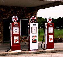 Texaco Gas Pumps by Charles Buchanan