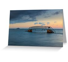 Bridge to nowhere Greeting Card
