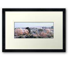 Frosted Autumn... Framed Print
