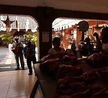 market scene - escena del mercado by Bernhard Matejka