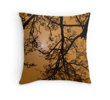 Dust Storm Silhouette Throw Pillow