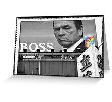 Autumn in Japan:  Tommy Lee Jones - Boss of the Bad-Asses Greeting Card