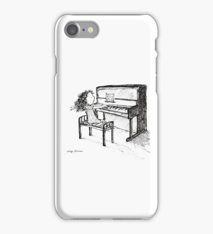 Piano Playing iPhone Case/Skin