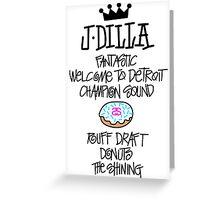 J Dilla Greeting Card