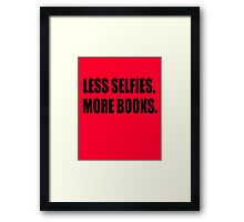 more books Framed Print