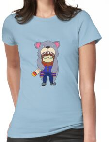 Bear Cape Womens Fitted T-Shirt