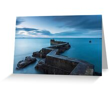 The Blocks: Breakwater to St Monans' Harbour Greeting Card