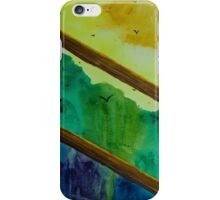 Forest view through fence iPhone Case/Skin