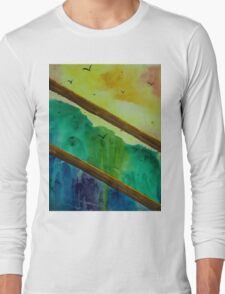 Forest view through fence Long Sleeve T-Shirt