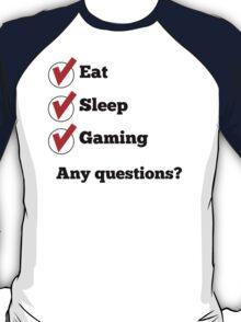 Eat Sleep Gaming Checklist T-Shirt