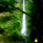 The Lights of Multnomah Falls by AdventureGuy